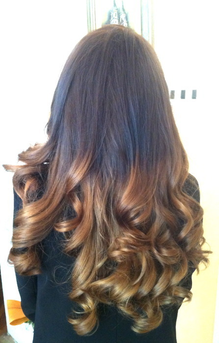 back of head, beautiful, blonde, brunette, curls