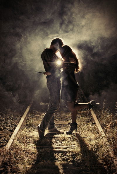 backlight, couple, cute, exploration, fashion, flare, girl, grenade, heels, high, hug, kiss, knife, love, man, model, photography, railroad, sexy, shadows, silhouette, smoke, strobist, t2i, train, triggers, urban, urbex, warm, woman