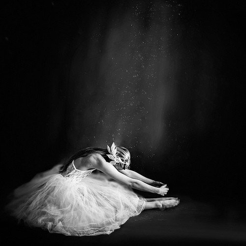 ballet, beauty, black and white, dance, girl