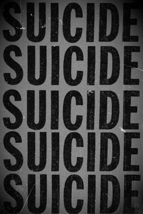 b&w, black and white, death, emo, suicide, text, typography