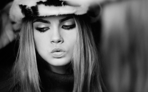 b&w, eyes, fur, girl, hair