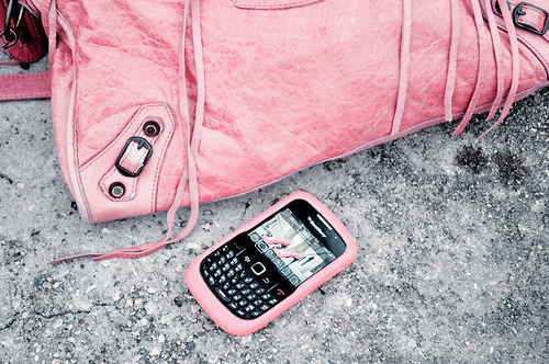 barbie, black, blackberry, cell, electronic, mobile, nails, phone, pretty, studs, tech, wallet, wallett, white