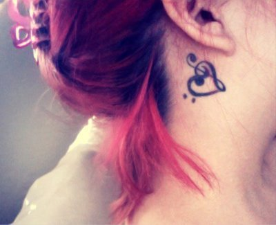 music tattoo designs on bass clef, music, tattoo, treble clef - inspiring picture on Favim.com