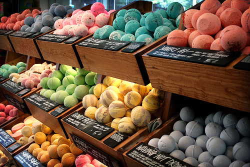 bath, bath balls, beautiful, cozy, cute