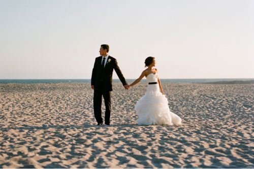 beach, beach wedding, dress, love, tux, wedding, wedding gown, weddings, white dress