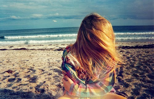 beach, beautiful, beauty, blonde, colours, cute, girl, hair, happy, life, nature, pretty, sand, sea