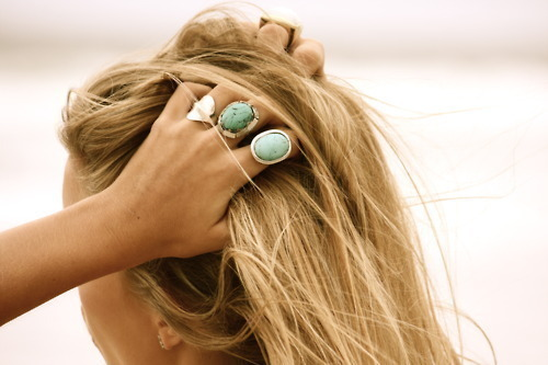 beach, blake, blonde, bohemian, boho, fashion, hair, jewelry, rin, ring, stone, surf