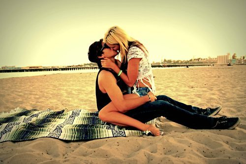 beach, blonde, blondy, boy, couple
