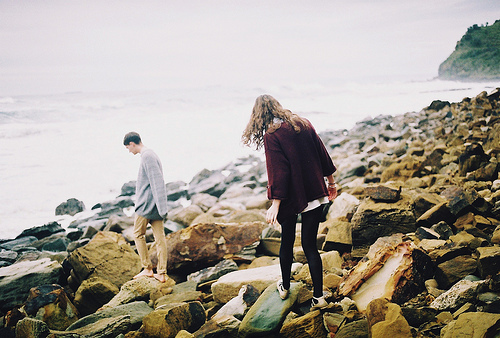 beach, chilly, couple, cute, fashion