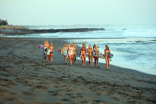 beach, girl, girls , surf
