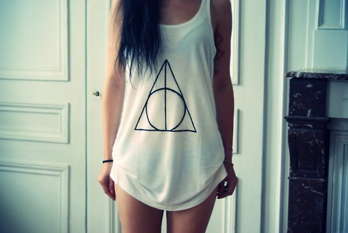 beautiful, beauty, brunette, deathly hallows, fashion