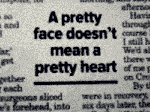 beautiful, beauty, face, girl, heart, life, newspaper, pretty, quote, text, true, typography, woman, words