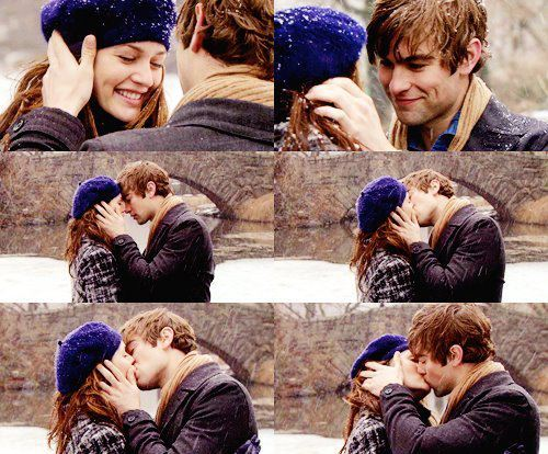 beautiful, blair, blair waldorf, cute, gossip, gossip girl, kiss, nate, nate archibald, new york, new york city, photo, photos, winter