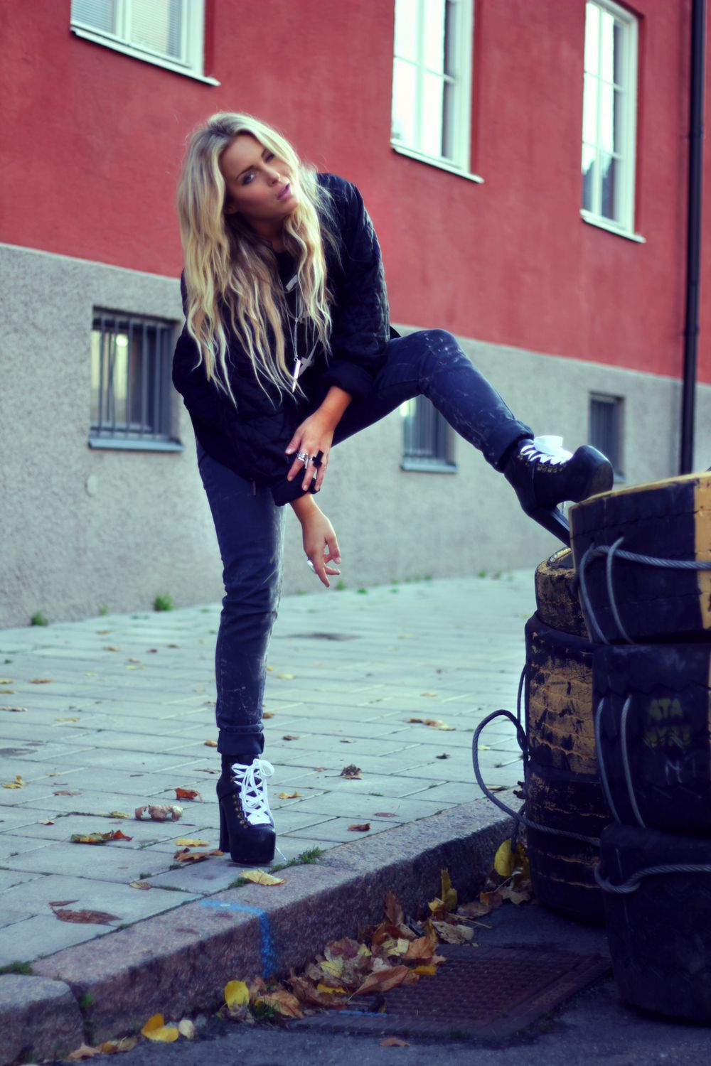 beautiful, blonde, bomberjacket, clothes, cool