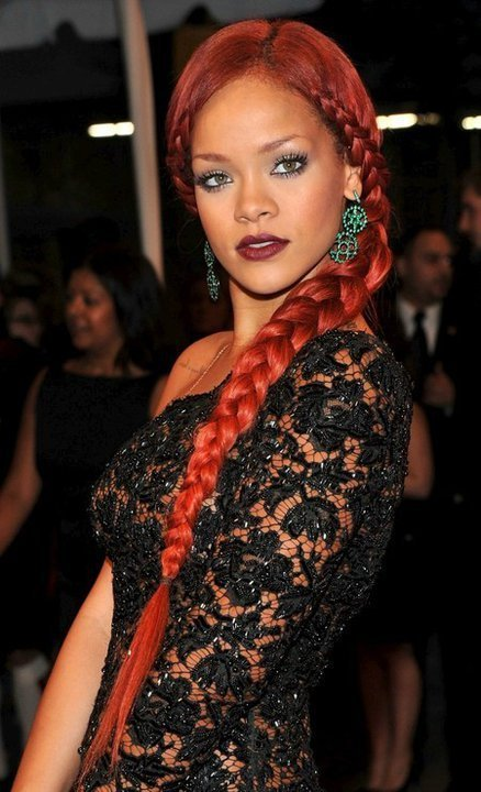 beautiful, braid, cute, girl, gorgeous, hair, lace, pretty, red hair, red head, redhair, redhead, rihanna, woman