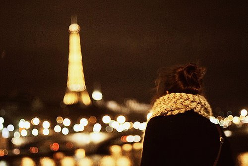 beautiful, city, cute, fashion, girl, hair, heart, kathrin, light, lights, love, night, paris, photography, winter