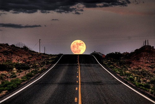 beautiful, cloud, moon, photography, pic, pics, road, sky, street
