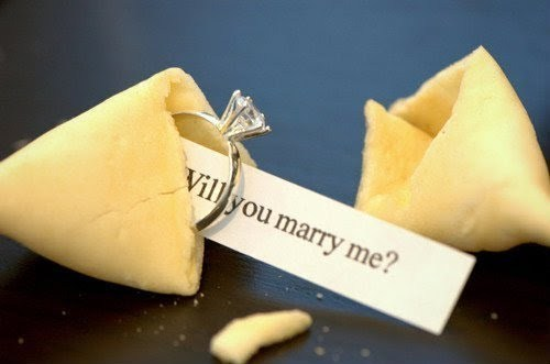 beautiful, cute, fortune cookie, love, marriage, married, proposal, ring, romantic