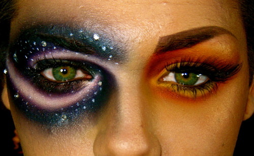 beautiful, eye makeup, eyes, green eyes, intense, make-up, pretty