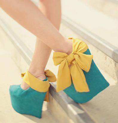 beautiful shoes wedges yellow image 283230 on favimcom