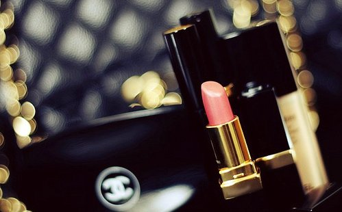 beauty, black, chanel, cosmetics, fashion