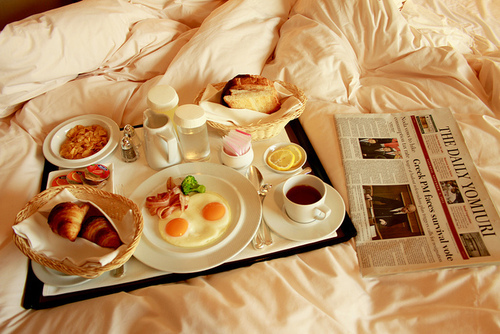 bed, breakfast, food, hungry, life