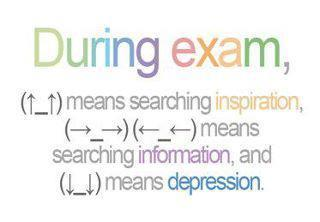 behaviour, class, depression, exam, funny