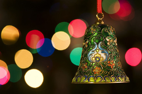bell, bokeh, campana, christmas, colors