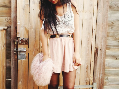 belt, black belt, dress, fashion, fury bag, girl, lace, lovely, model, photography pretty, pink