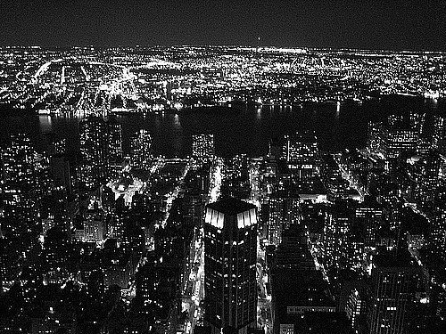 city lights black and white - photo #7