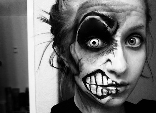 black and white, hipster, makeup and photography