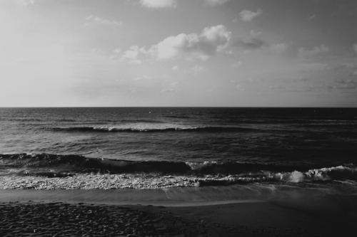 black and white, ocean, photography, sea, sky - image ...