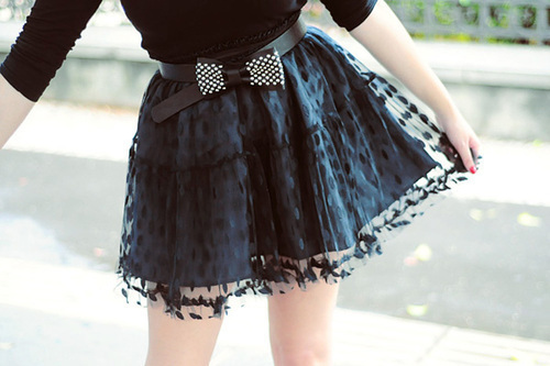 black, bow, cute, fashion, girl
