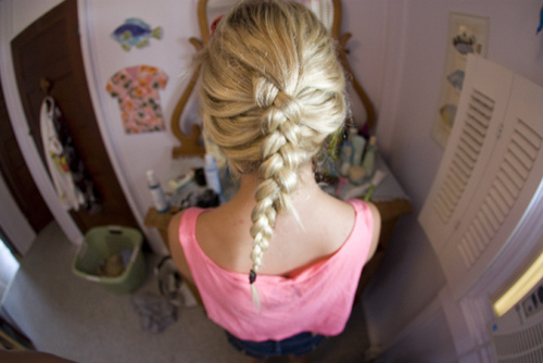 blonde, braid, fashion, girl, hair
