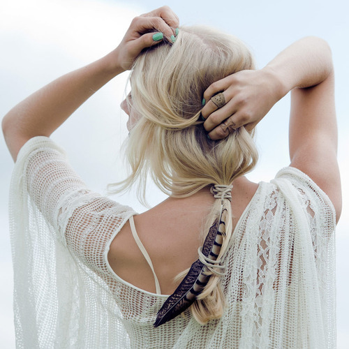 blonde, fashion, feathers, girl, jewelry, nice, pretty, rings, sweet, white cardigan