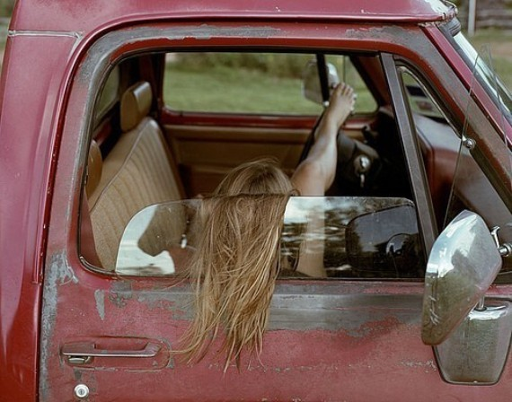 blonde, fashion, feet, foot, free, girl, hair, hipster, model, red, rust, sleep, toes, truck, vintage, woods
