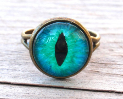 blue, cat eye , eye, ring