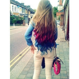 blue hair, color, girl, hair, long hair