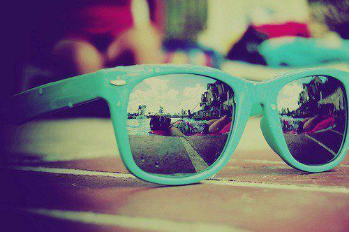 blue, light blue, mirror, photo, photography, rayban, raybans, summer, sunglasses, vintage, warm