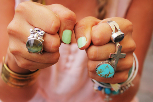 bohemian, boho, fashion, girl, nail