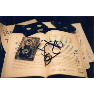 book, music, phototgraphy, tape, vintage