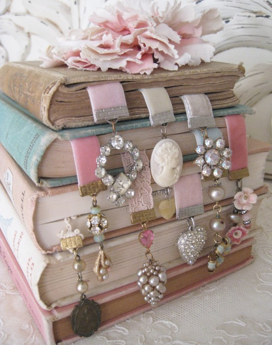 book, necklace, ornament, romantic, vintage