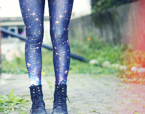 boots, fashion, galaxy, leggings, space