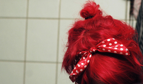 bow, cute, dots, girl, hair