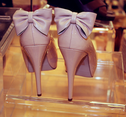 bows, heels, shoes