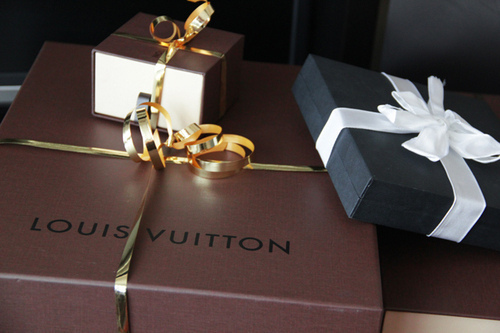 box, christmas, fashion, gift, louis vuiton