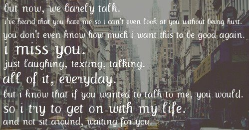 boy, city, girl, hurt, laugh, laughing, life, love, missing you, quote, talk, talking, text, texting, waiting, white, words