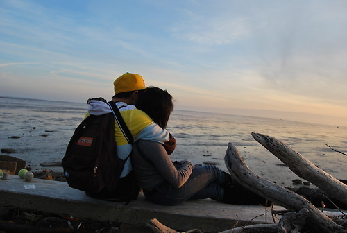 boy, cool, couple, cute, girl, hug, landscape, love, view