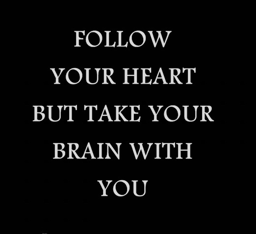 boyfriend, brain, follow, girlfriend, heart