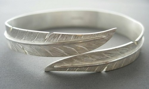 bracelet, bracelets, cute, fashion, feather, jewellery, jewelry, love, pretty, ring, silver, style